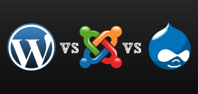 Wordpress vs Drupal vs Joomla