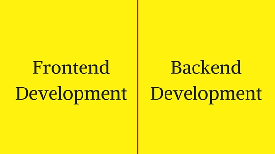 Frontend and Backend Development
