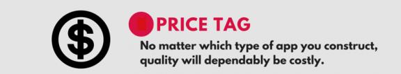 price of Hybrid app