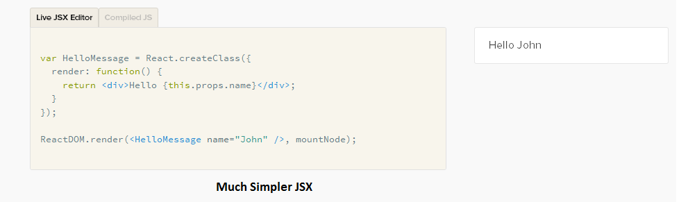 Top javascript frameworks easy React JSX