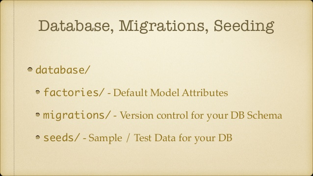 Database migration in laravel