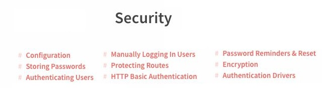 Laravel Security