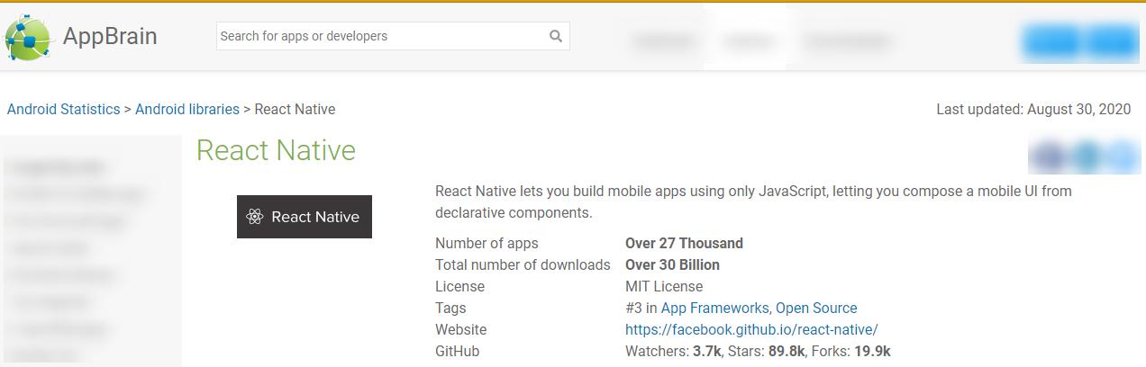 App Ideas - React Native Stats