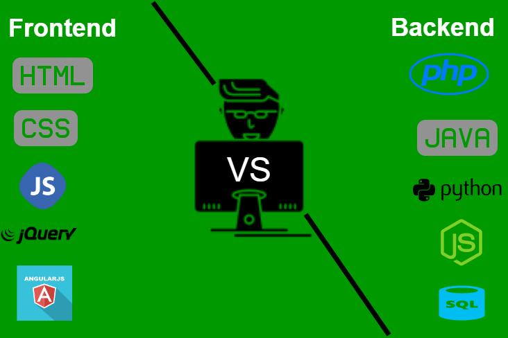 frontend-Vs-backend-developer