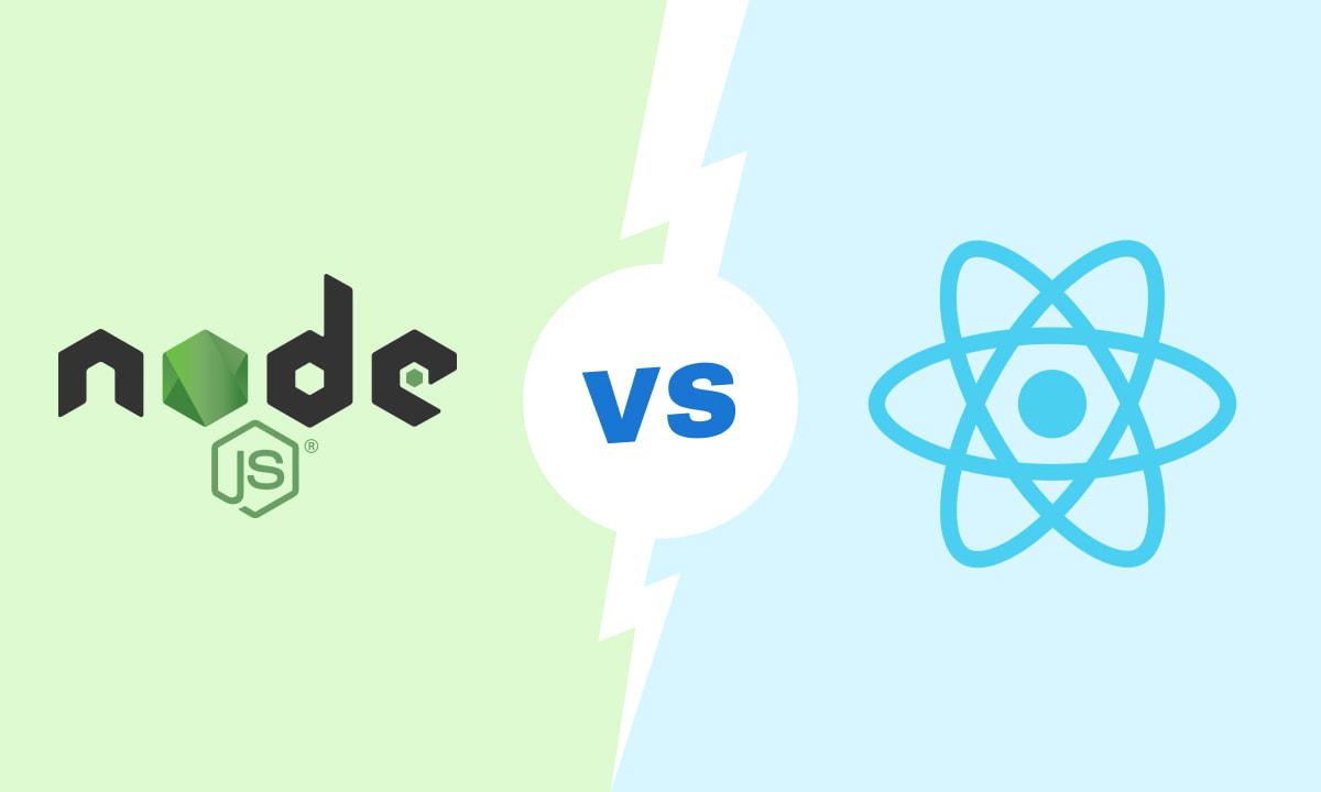 node.js vs react.js