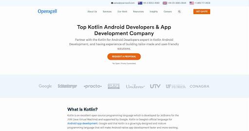Custom Android App development, Offshore Kotlin developers, Hire Kotlin Developers