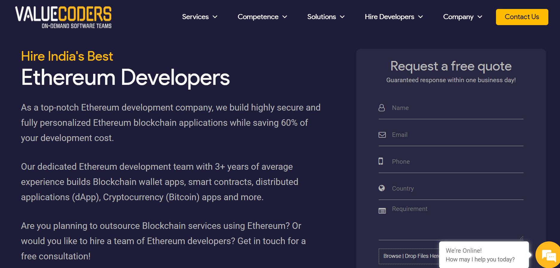 Hire ethereum developers