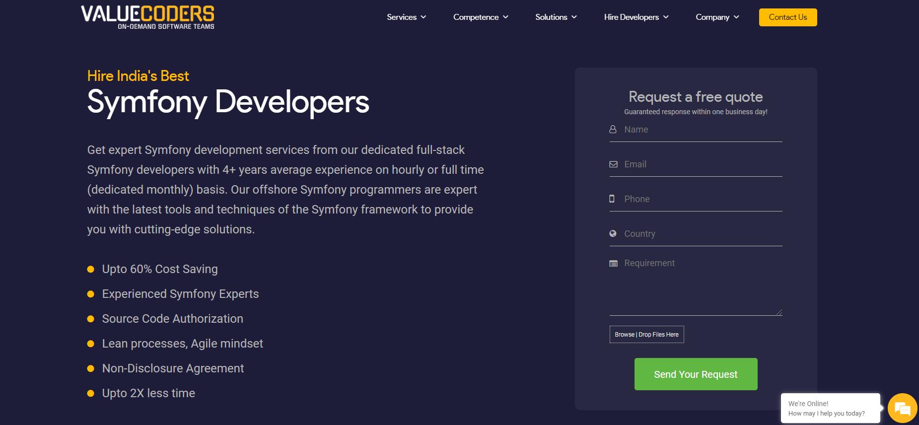 Valuecoders symfony developers